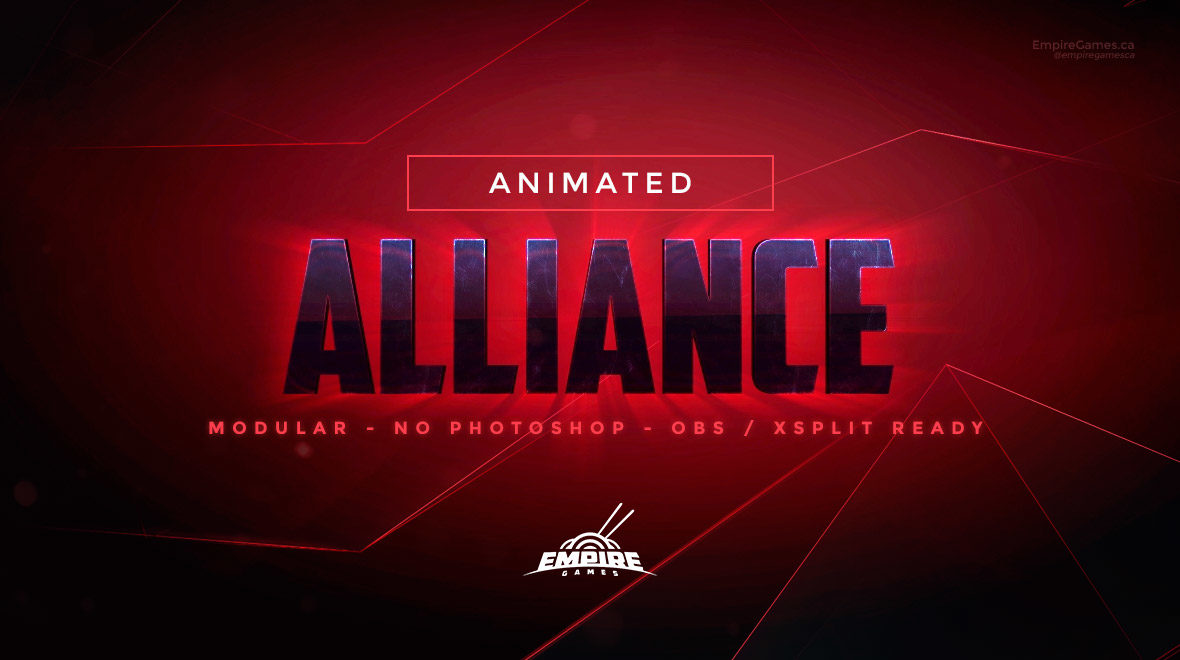 Alliance: Stream Overlay Pack (Animated) • Empire Games